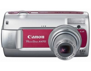 5 Canon PowerShot A470 Red