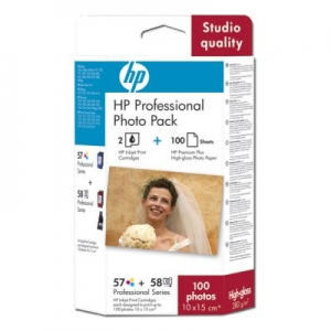 Картридж + Бумага HP Q7954AE Photo Pack (К-ж hp №57+№58) + Premium Plus Photo Paper